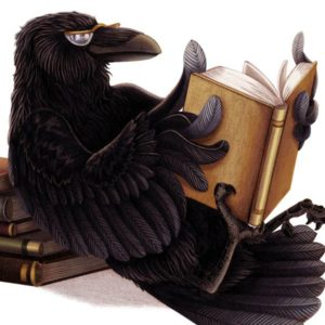 Raven Reads in Repose